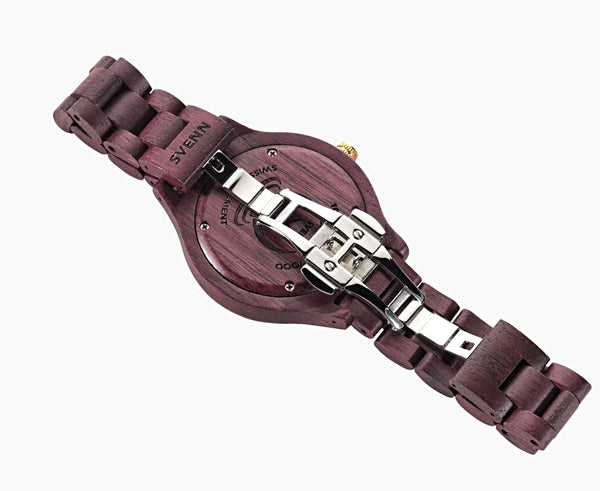 Svenn Wood Watch Atlas Violet Back