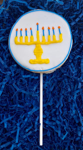HANUKKAH MENORAH COOKIE POP