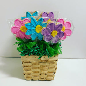 MOTHER'S DAY FLOWER BOUQUET BASKET