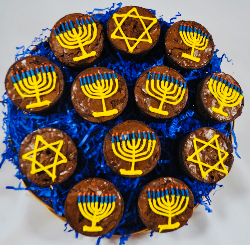 HOLIDAY GOURMET BROWNIE PLATTER HANUKKAH