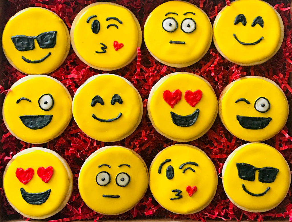 JUST BECAUSE EMOJIS DELUXE COOKIE GIFT BOX