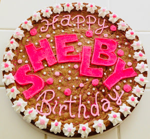 COOKIE CAKE HAPPY BIRTHDAY PINK