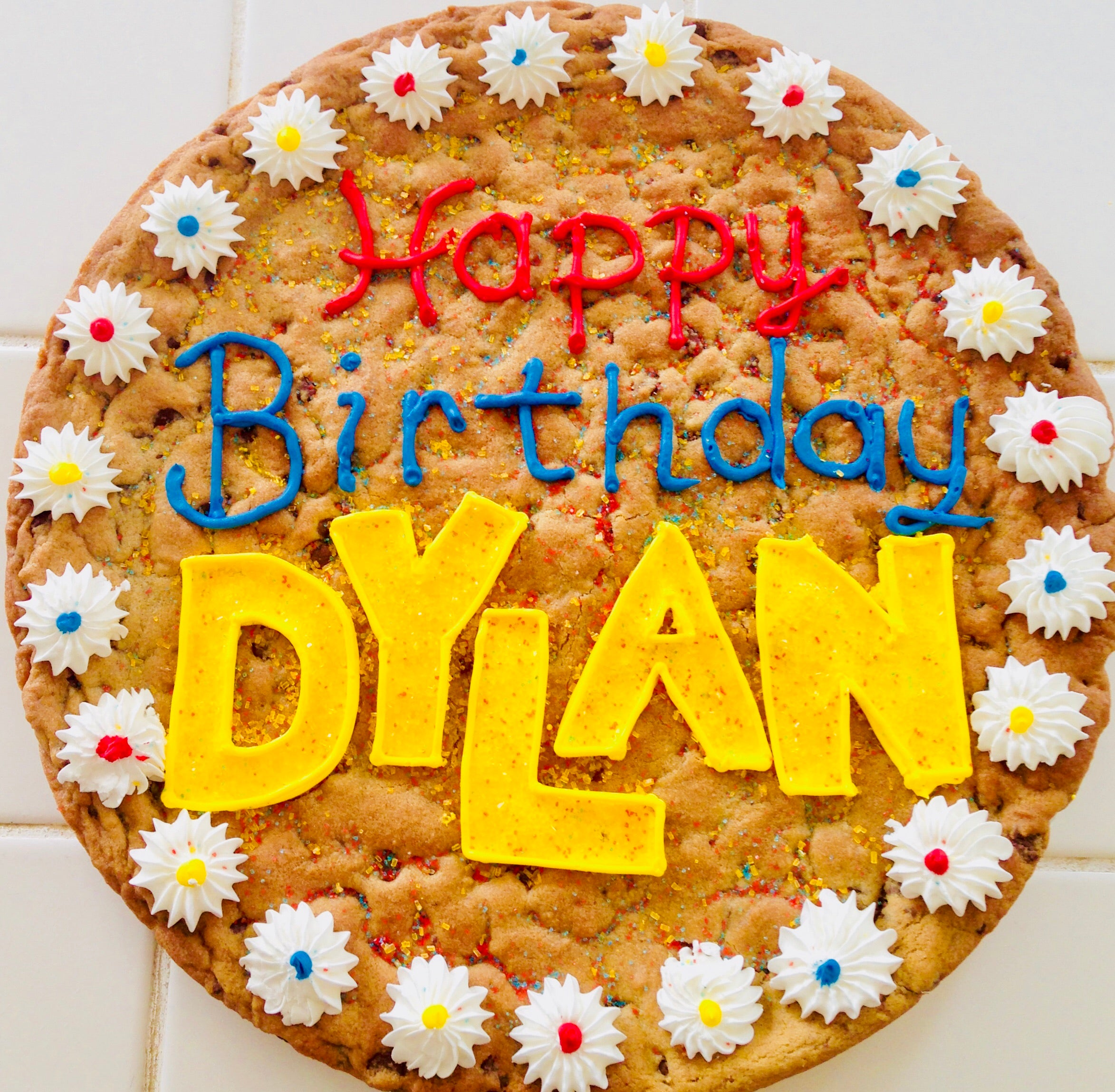 Cool Cookie Cake Happy Birthday Multi Flower Hill Cookie Factory Funny Birthday Cards Online Alyptdamsfinfo