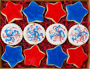 4th of JULY FIREWORKS DELUXE COOKIE GIFT BOX