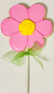 SPRING FLOWER COOKIE POPS