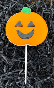 HALLOWEEN JACK O LANTERN COOKIE POPS