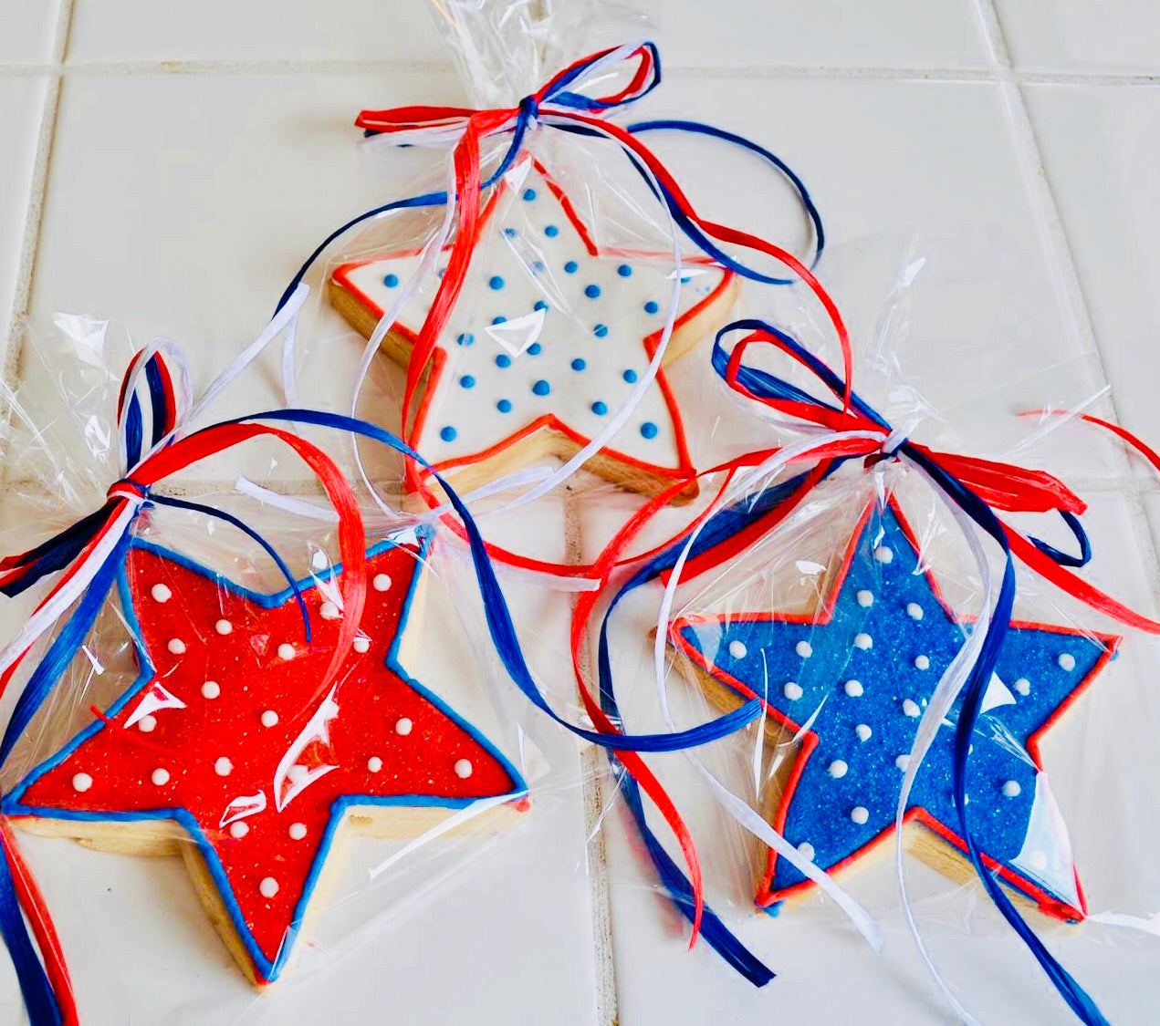 LABOR DAY STAR COOKIE FAVORS