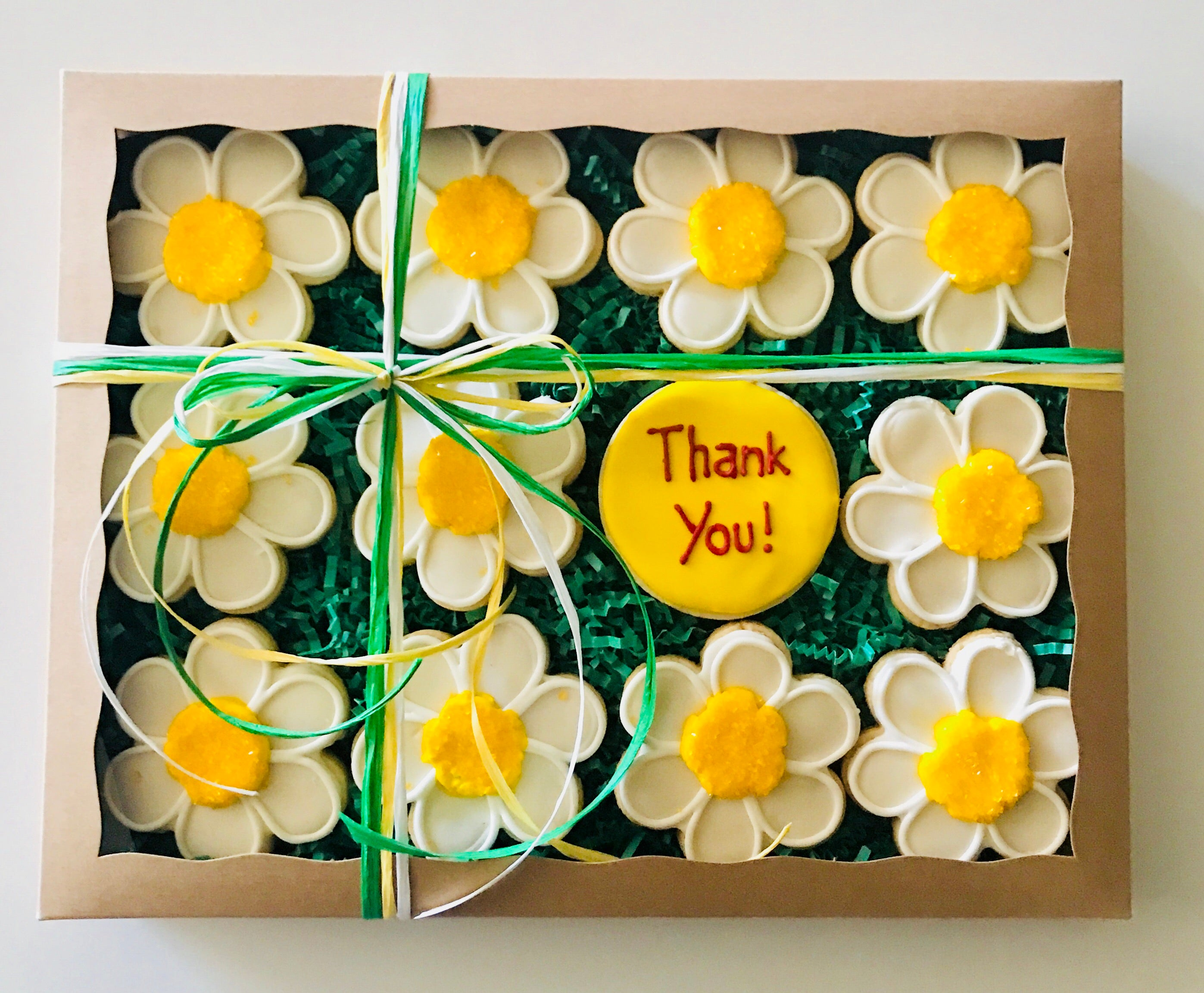 THANK YOU DAISIES DELUXE COOKIE GIFT BOX