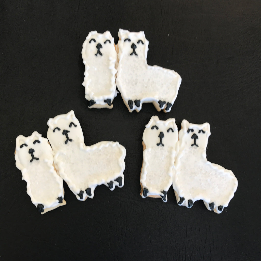 COOKIE FAVORS ANIMALS/LLAMAS
