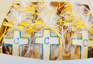 COOKIE FAVORS CROSS INITIAL