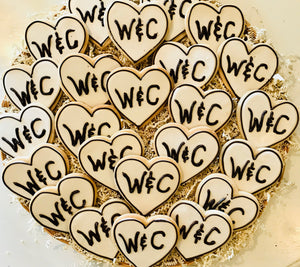 COOKIE FAVORS WEDDING/LOVE HEARTS