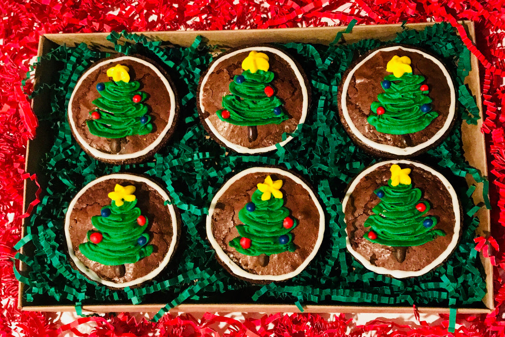 HOLIDAY BROWNIE BOX CHRISTMAS TREES