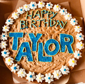 Terrific Cookie Cake Birthday Blue Flower Hill Cookie Factory Personalised Birthday Cards Cominlily Jamesorg