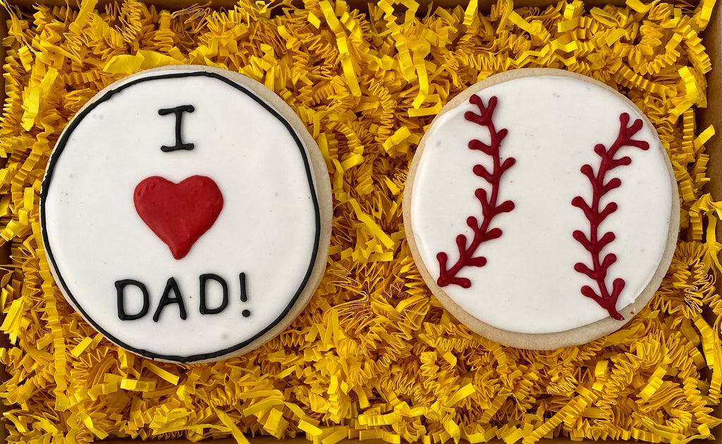 FATHER'S DAY BASEBALL COOKIE GIFT BOX