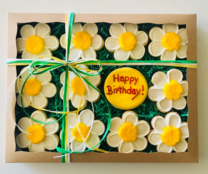 COOKIE BOX HAPPY BIRTHDAY DAISIES