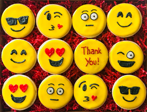 COOKIE BOX THANK YOU EMOJIS