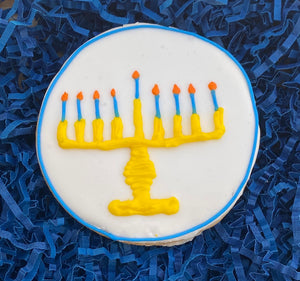 HANUKKAH MENORAH COOKIE FAVOR