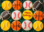 HAPPY BIRTHDAY SPORTS DELUXE COOKIE GIFT BOX