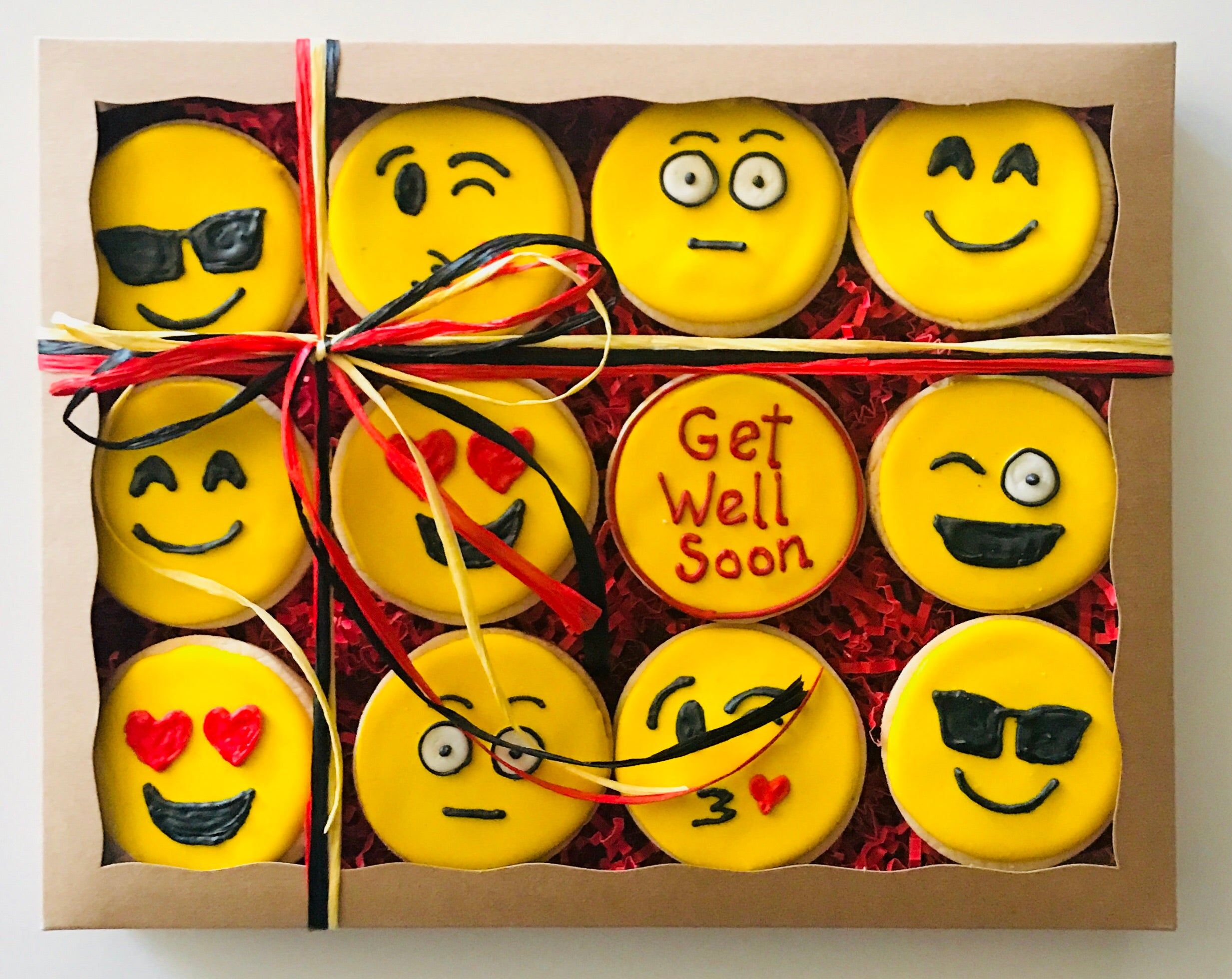 GET WELL EMOJIS DELUXE COOKIE GIFT BOX