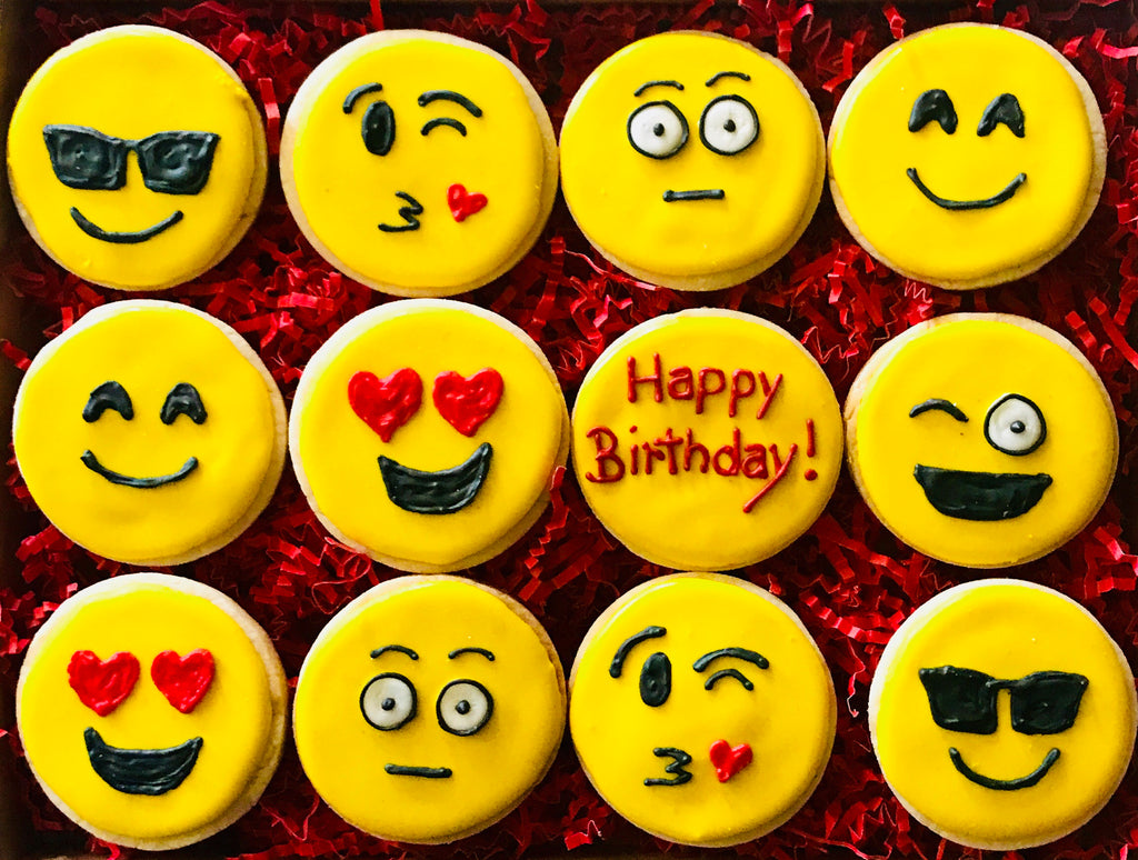HAPPY BIRTHDAY EMOJI DELUXE COOKIE GIFT BOX