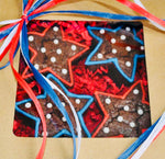 GOURMET BROWNIES RED WHITE & BLUE STARS