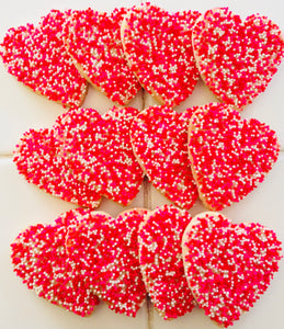 VALENTINE'S DAY SPRINKLE HEARTS DELUXE COOKIE GIFT BOX