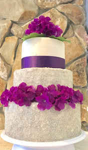 WEDDING CAKE SPARKLES & FLOWERS