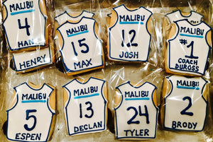 COOKIE FAVORS SPORTS/TEAM JERSEY PERSONALIZED