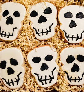 HALLOWEEN SILLY SKULLZ DELUXE COOKIE GIFT BOX