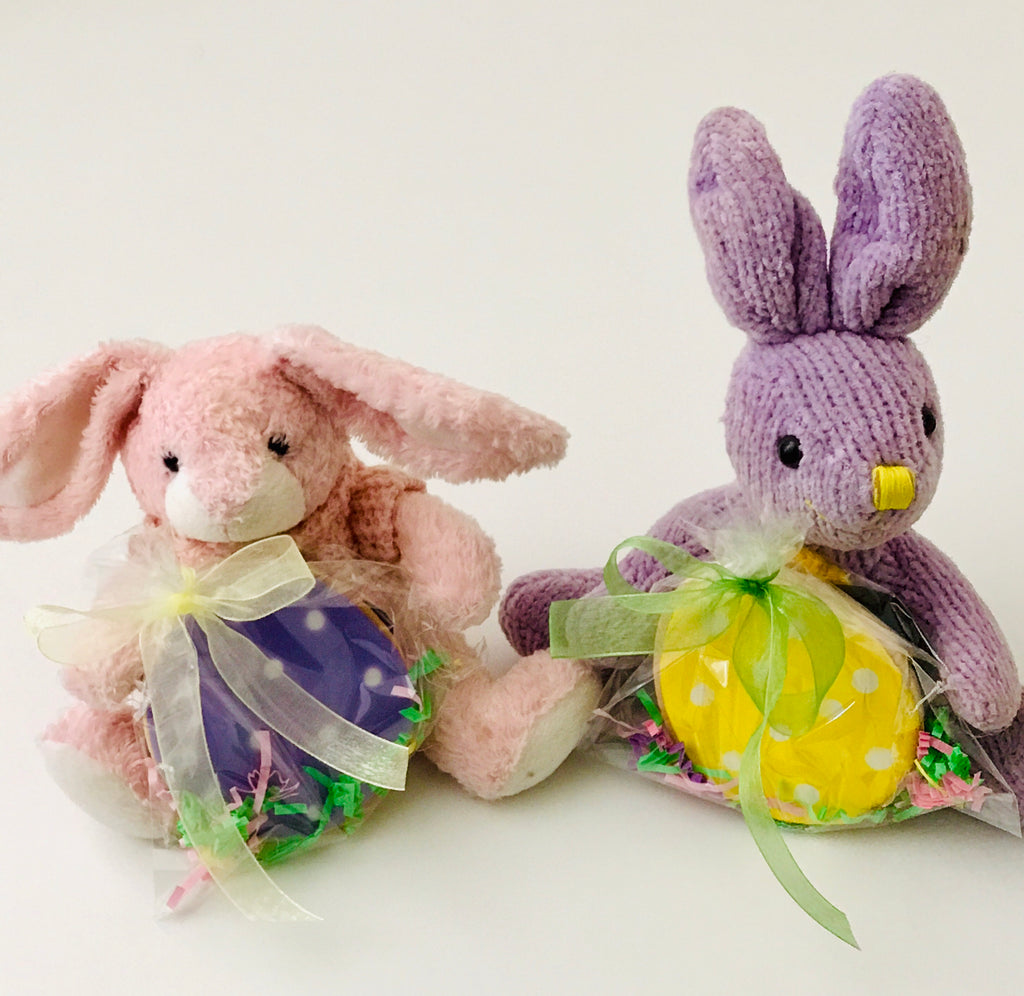 BUNNY PLUSH with EASTER EGG COOKIE FAVOR