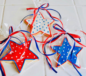 PATRIOTIC STAR COOKIE FAVORS