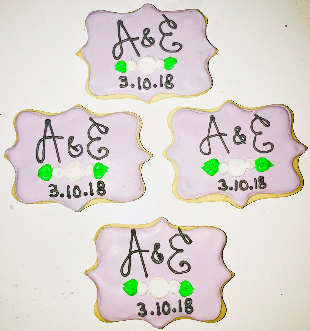 COOKIE FAVORS WEDDING/MONOGRAM
