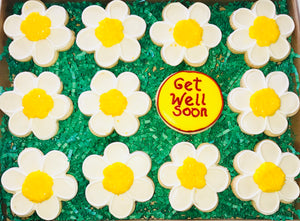 GET WELL DAISIES DELUXE COOKIE GIFT BOX