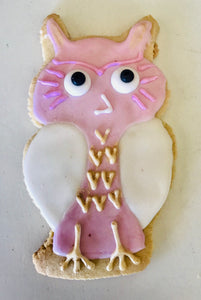 COOKIE FAVORS ANIMALS/PINK OWL