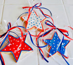 COOKIE FAVORS RED WHITE & BLUE STARS