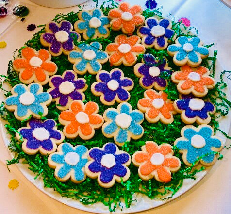 COOKIE PLATTER FLOWER POWER