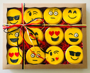COOKIE BOX JUST BECAUSE EMOJIS