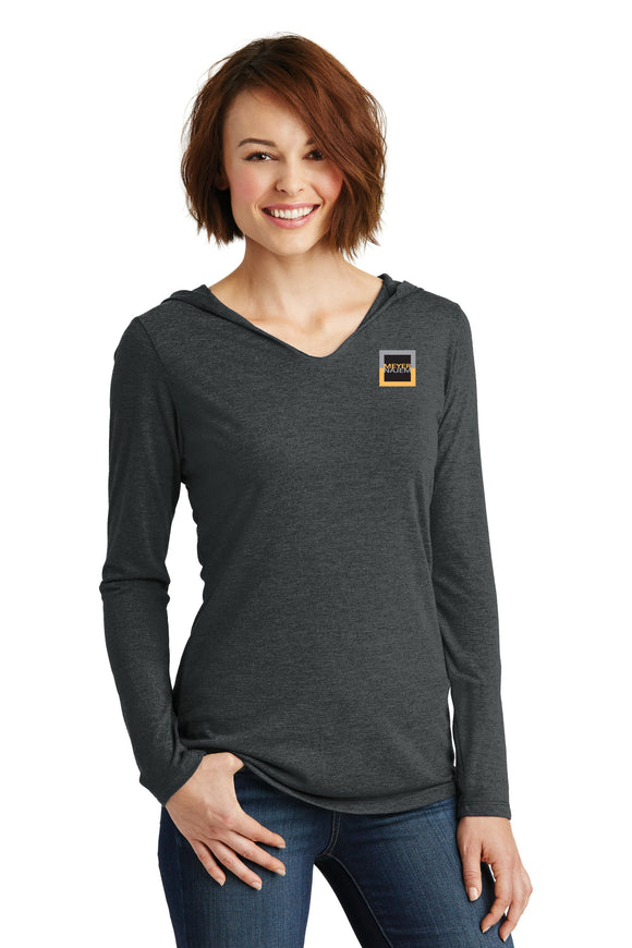 District Made® Ladies Perfect Tri® Long Sleeve Hoodie