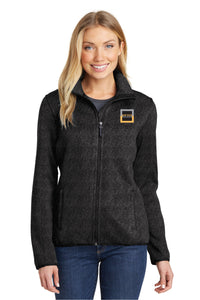 Port Authority® Ladies Sweater Fleece Jacket
