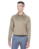 Harriton Men's Tactical Long-Sleeve Performance Polo