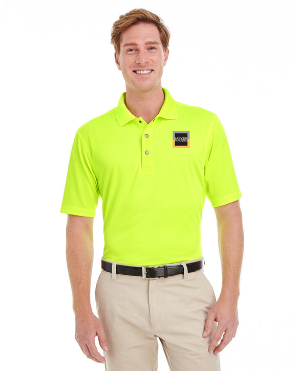 Harriton Men's Advantage IL Snap Placket Performance Polo