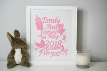 Personalised New Baby Birth Announcement Frame