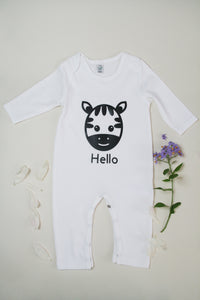 Organic Cotton Little Zebra Baby Romper