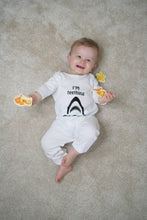 "'I'm teething"" 100% Organic Cotton Baby Romper"