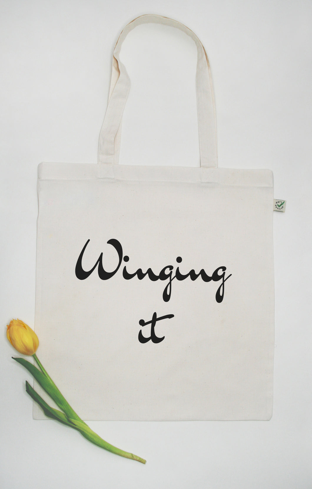 Winging it - 100% Organic and Fairtrade Cotton Tote Bag