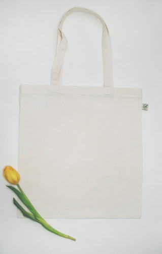 100% Organic and Fairtrade Cotton Tote Bag