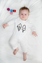 Organic Cotton Happy Ice Creams Baby Romper