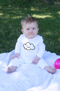 Organic Cotton Happy Cloud Baby Romper