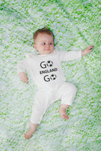 Personalised Organic Cotton Football Fan Baby Romper