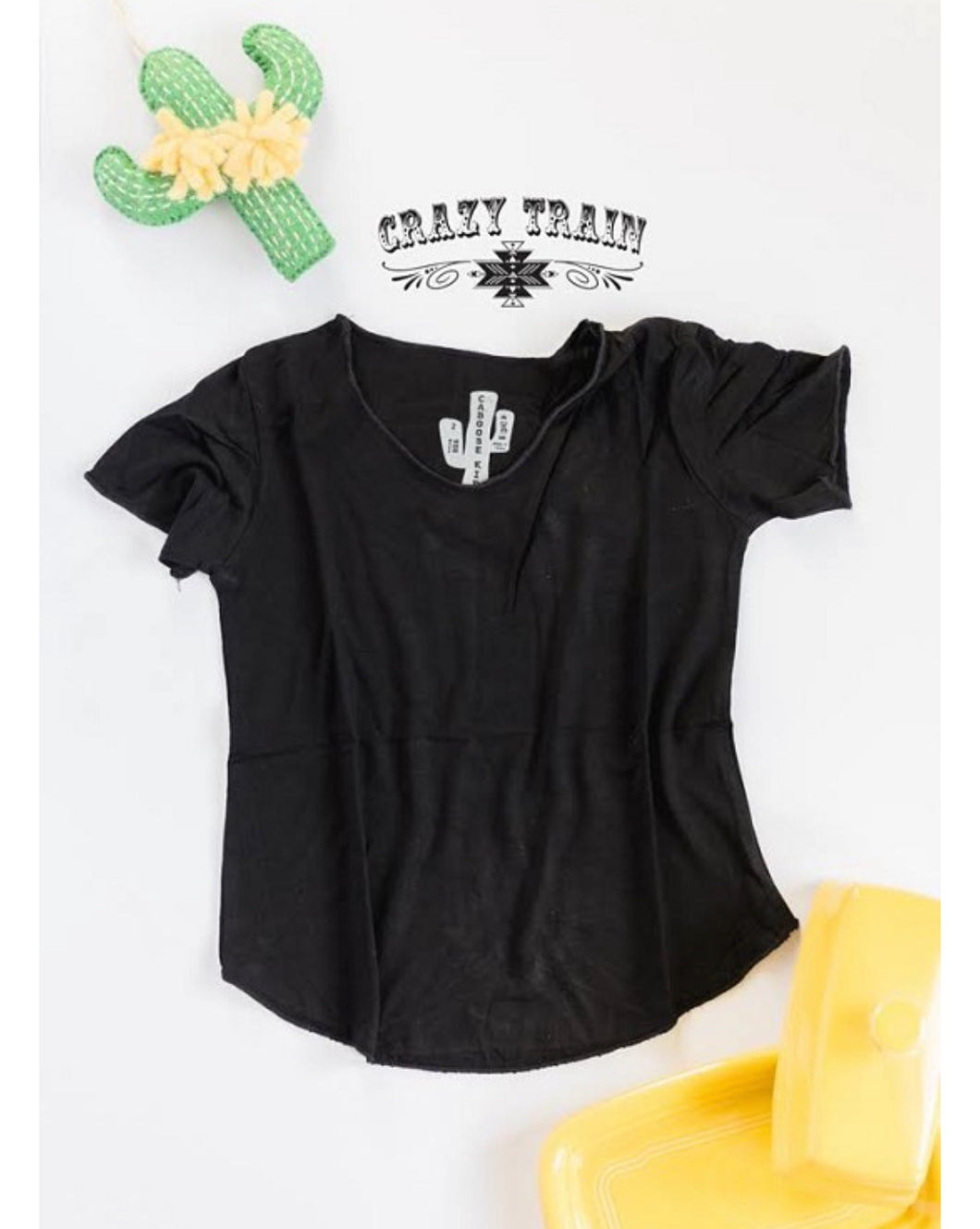 Kids Black Basic Top